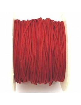 Cordon polyester 1 mm rouge fluo - 50 cm