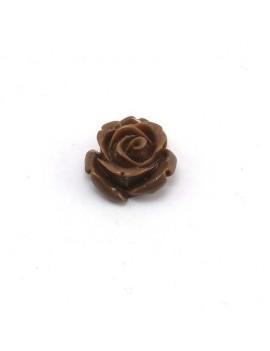 Rose en résine marron 15 mm