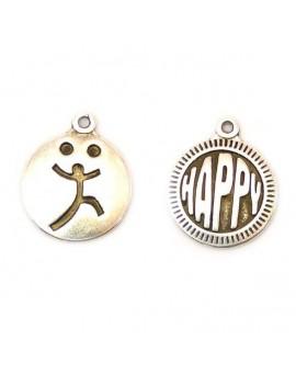 Médaille happy/joyeu argent...