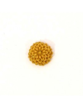 Cabochon fleur camel 10 mm