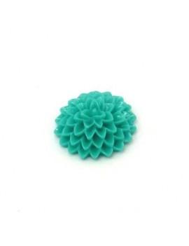 Cabochon fleur turquoise 15 mm