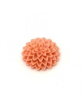 Cabochon fleur rose 15 mm