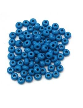 Rocailles 4/0 - 5 mm bleu...