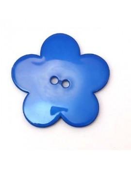 Fleur en résine 58 mm bleu...