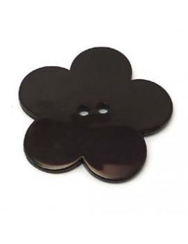 Fleur en résine 58 mm noir