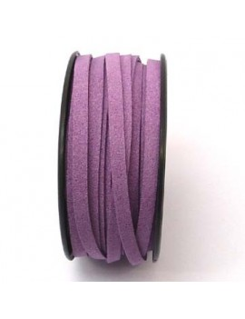 Daim 6 mm lilas foncé - 50 cm