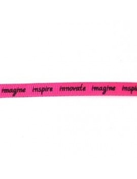 Ruban message fuchsia 7 mm...