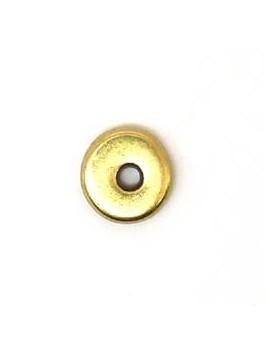 Perle donuts doré 11 mm