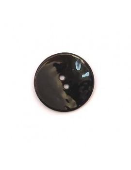 Bouton en nacre noir 28 mm