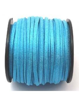 Daim 3 mm bleu pailleté -...