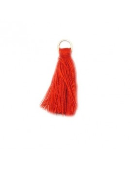 Pompon coton rouge 30 mm