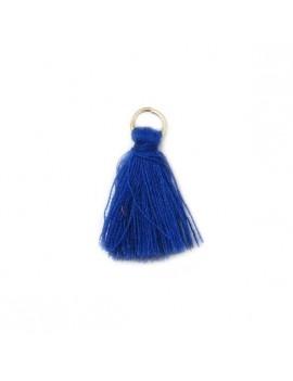 Pompon coton bleu...