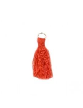 Pompon coton corail 30 mm