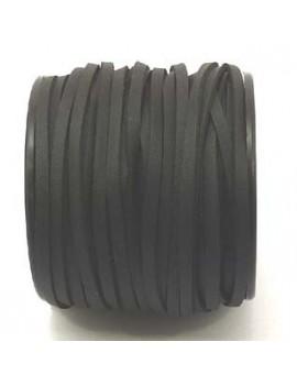 Daim 3 mm noir imitation cuir - 50 cm