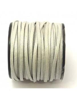 Daim 3 mm gris clair pailleté - 50 cm
