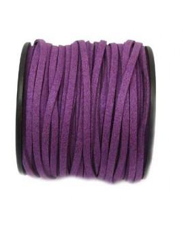 Daim 3 mm violet pailleté -...