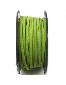 Daim 3 mm vert moyen - 50 cm