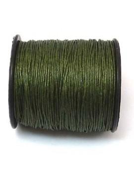 Coton ciré 1 mm vert kaki -...