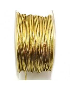 Cordon élastique 2 mm doré...
