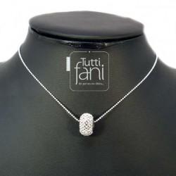 Collier perle becharmed crystal et chaîne serpentine