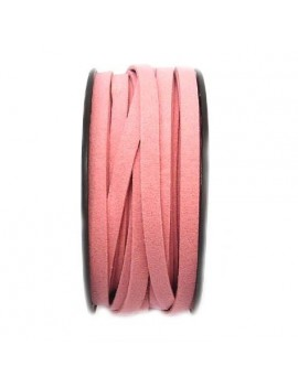 Daim 6 mm rose - 50 cm