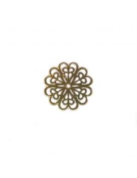 Estampe fleur 20 mm doré