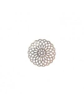 Estampe rosace argent vieilli 22 mm