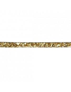 Cuir plat pailleté doré 6 mm