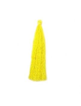 Pompon polyester jaune 90 mm
