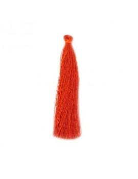 Pompon polyester orange 90 mm
