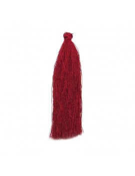 Pompon polyester bordeaux 90 mm