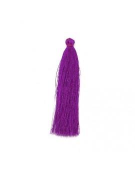 Pompon polyester violet 90 mm