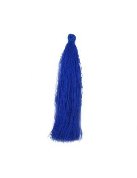 Pompon polyester bleu électrique 90 mm