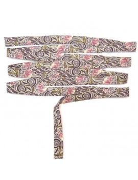 Biais Liberty Tana Lawn Ten Six fond mauve motifs rose parme - 25 cm