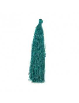 Pompon polyester vert bouteille 90 mm