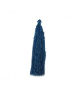 Pompon polyester bleu canard 90 mm
