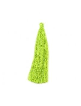 Pompon polyester vert 90 mm