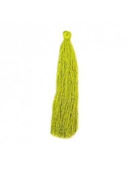 Pompon polyester vert olivine 90 mm