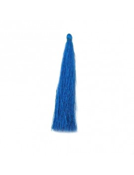 Pompon polyester bleu 90 mm