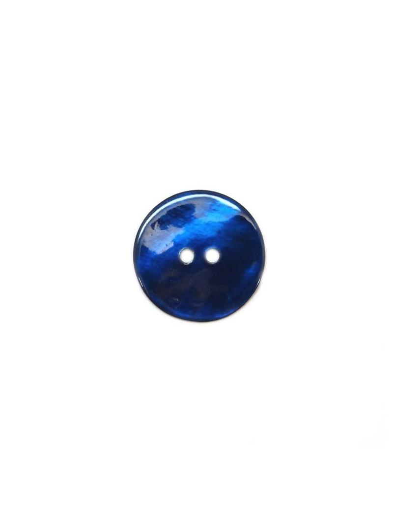 Bouton en nacre bleu marine 23 mm