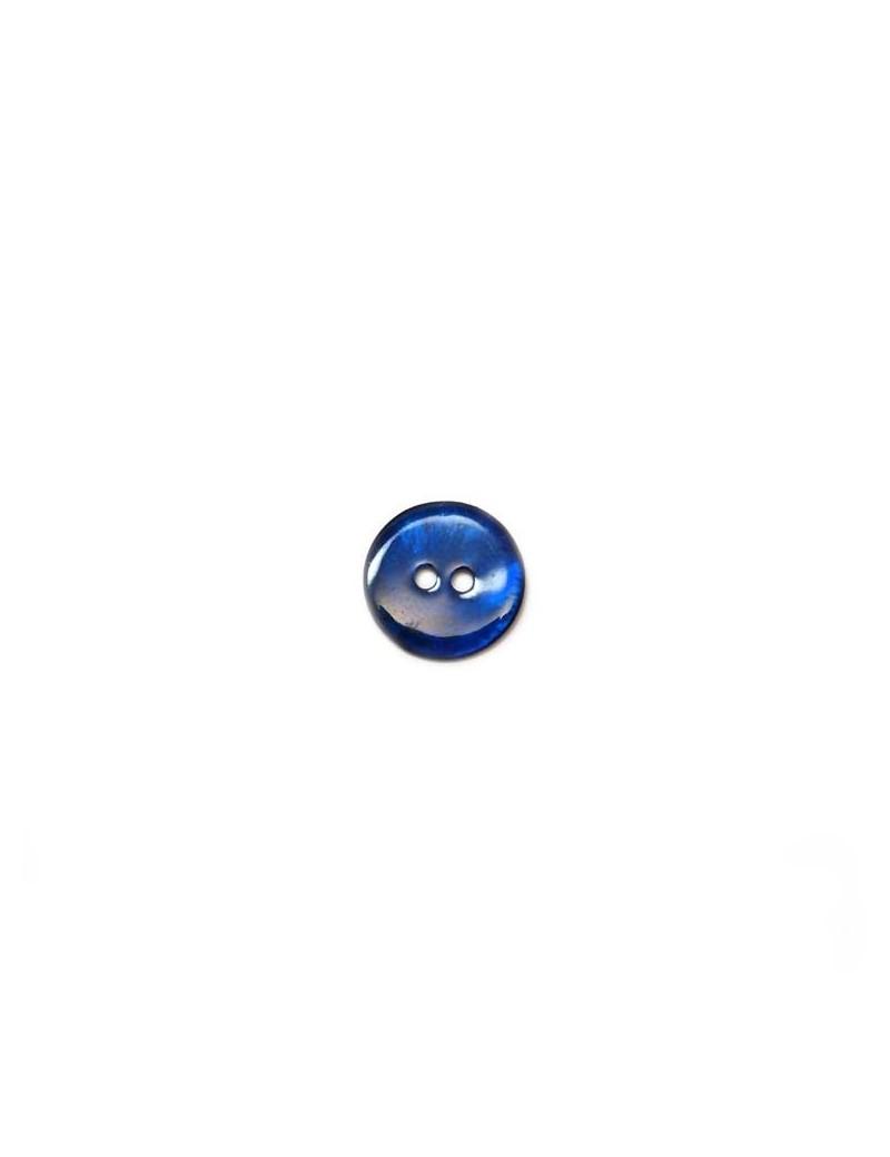 Bouton en nacre bleu marine 12 mm