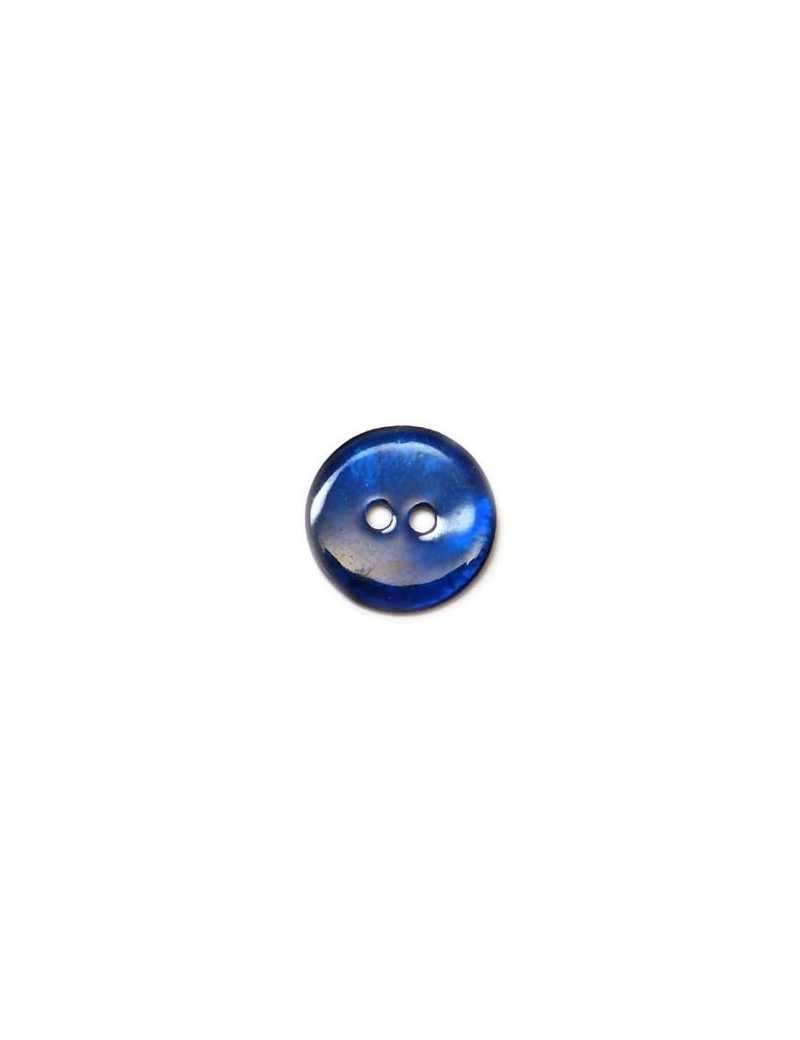 Bouton en nacre bleu marine 18 mm