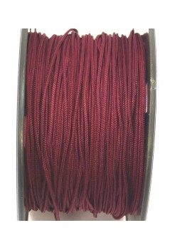 Cordon polyester 1 mm bordeaux - 50 cm