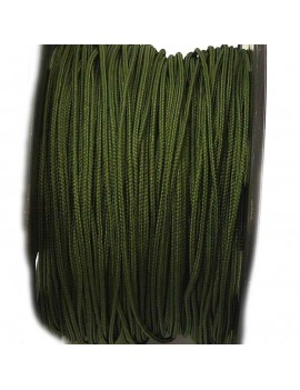 Cordon polyester 1 mm kaki - 50 cm