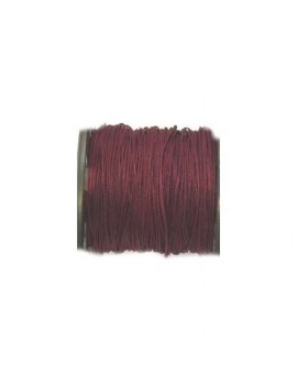 Cordon polyester 0,5 mm bordeaux - 50 cm