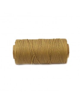 Cordon polyester 0,5 mm camel - 50 cm
