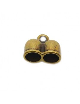 Embout à coller double bronze 10 mm
