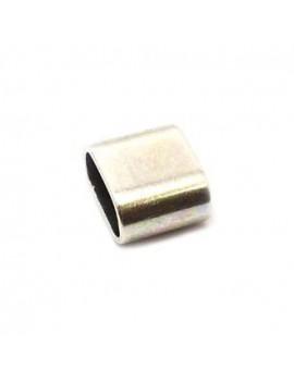 Perle plate argent vieilli 20 mm