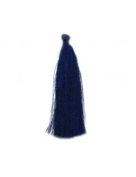 Pompon polyester bleu marine 90 mm