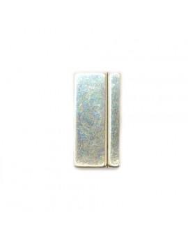 Fermoir argent vieilli magnétique 17x33 mm